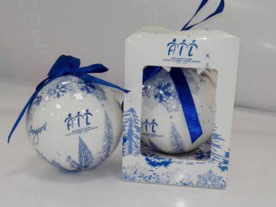 3 Palline di Natale Fiocco Blu