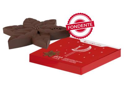 Stella di Natale di Cioccolato Fondente e Nocciole